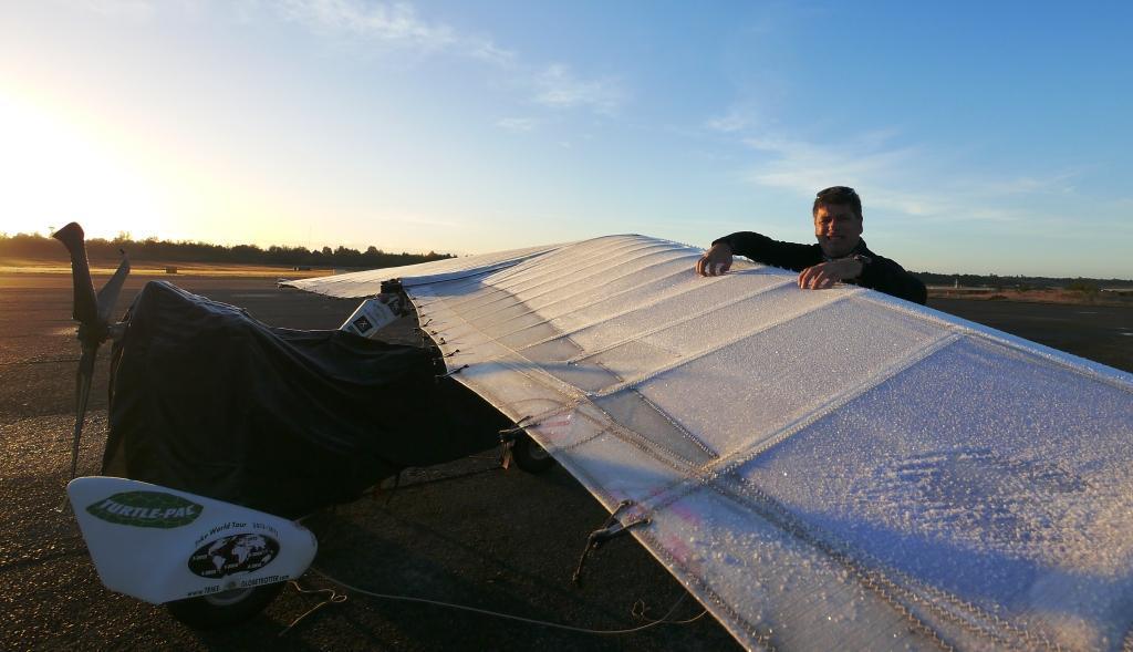 Andenüberflug ade - Eis auf der Tragfläche