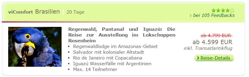 Regenwald, Pantanal und Iguazú: Die Reise zur Ausstellung im Lokschuppen Rosenheim
