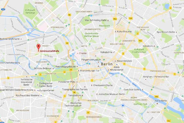 """Vollständige Routenbeschreibung auf Google Maps: """"Arminiushalle Moabit"""""""